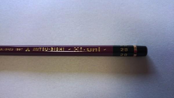 賞状筆耕の愛用鉛筆は三菱ハイユニ